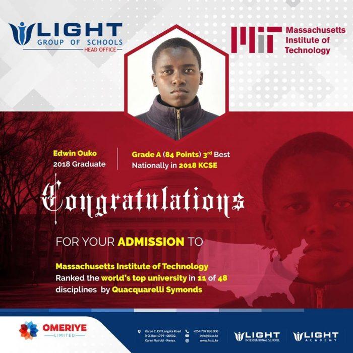 Light Academy'de okudu Massachusetts Institute'yi kazandı 2
