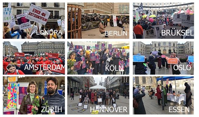 Avrupa'nın 35 şehrinde Türkiye'deki kadınların sesi oldular 1
