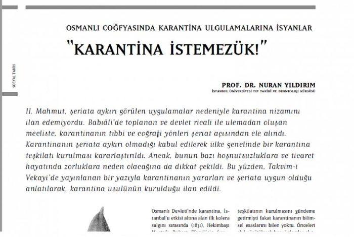 Osmanlı'da karantina nasıl başladı, toplum nasıl tepki gösterdi? Halkın 'istemezük!' isyanları 2