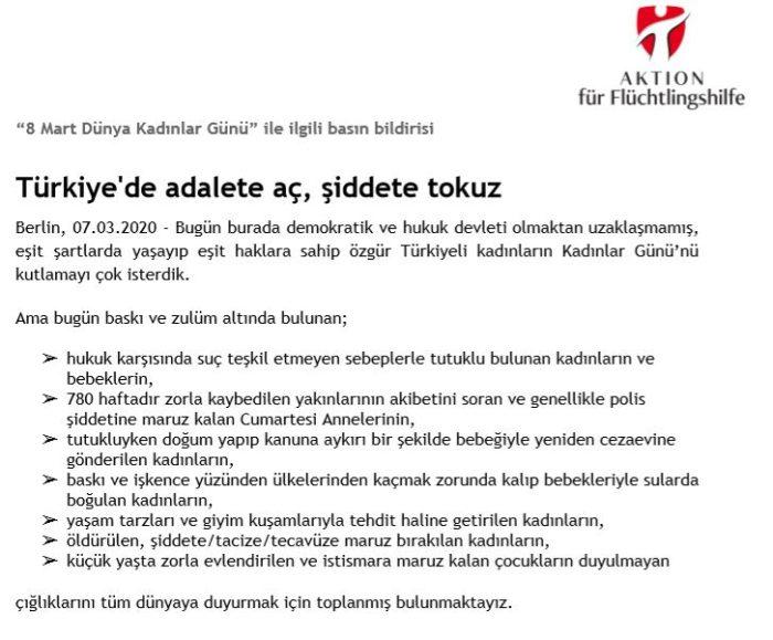 Başkent Berlin'den Türkiye'deki kadınlar için haykırdılar 7