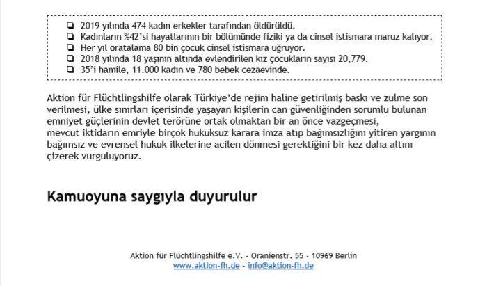 Başkent Berlin'den Türkiye'deki kadınlar için haykırdılar 8