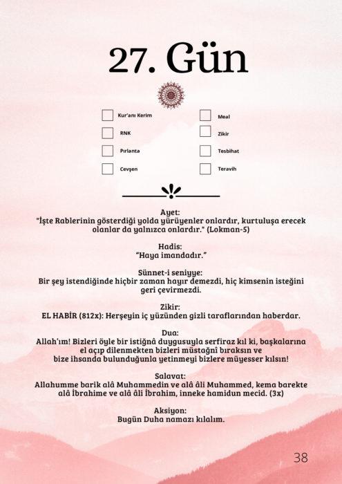 Ramazan Çetelem   27.gün 6