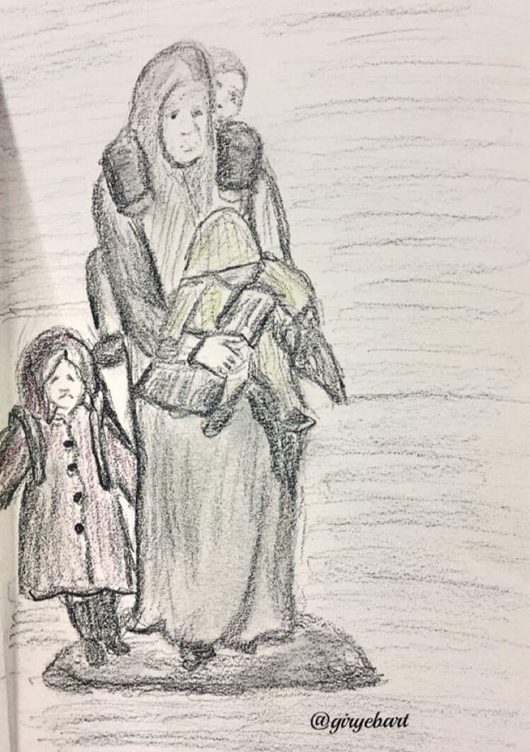 Gökhan Bozkuş'tan 20 Haziran Dünya Mülteciler Günü Resimleri 3