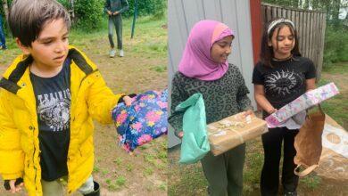 Photo of İsveç'teki Hizmet gönüllüleri kampta kalan çocuklara hediye dağıttı