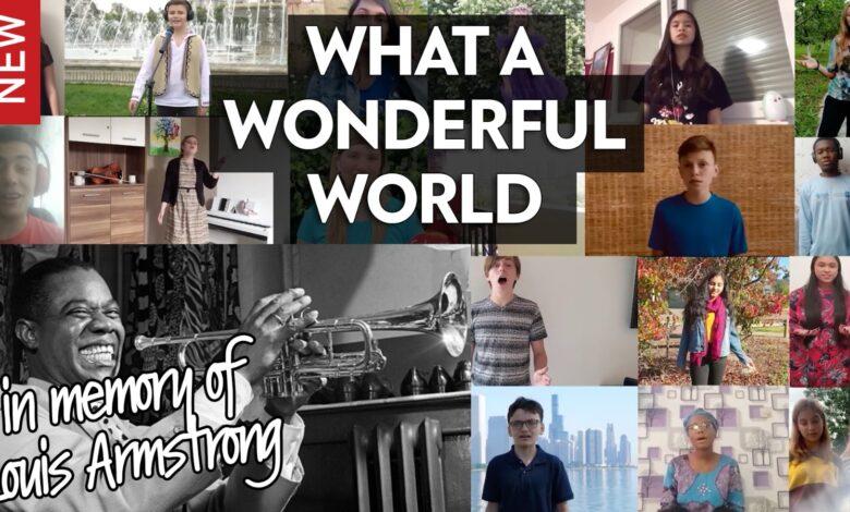 Dünya çocukları Caz sanatçısı Armstrong'un 'What a Wonderful World' eserini seslendirdi 1