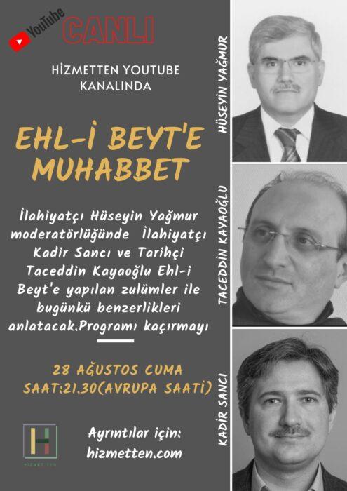 Ehl-i Beyt'e Muhabbet Programı bu akşam 21.30'da CANLI 3