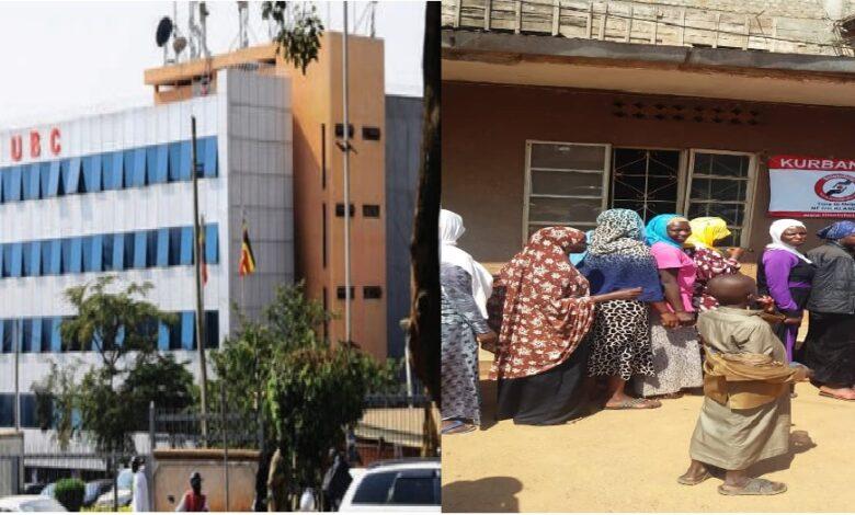 Uganda'daki kurban dağıtımı devlet televizyonunda 1
