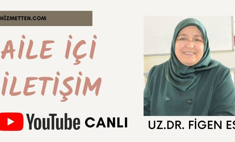 Uzm. Dr. Figen Es CANLI yayında Aile içi iletişimi anlattı 1