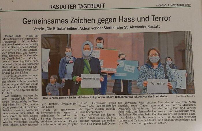 Rastatt şehrindeki Hizmet gönüllüleri kiliseye taziye ziyaretinde bulundu 6