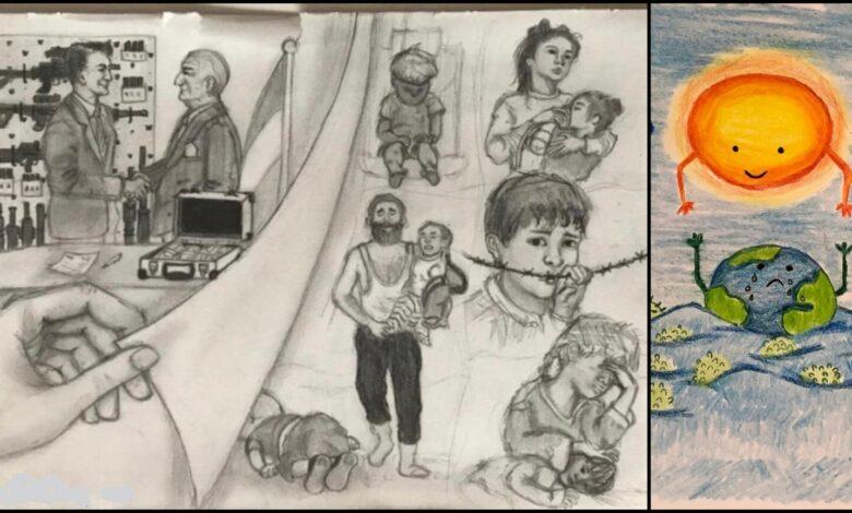 Çocukların gözünden 'korona' ve 'savaş' 1