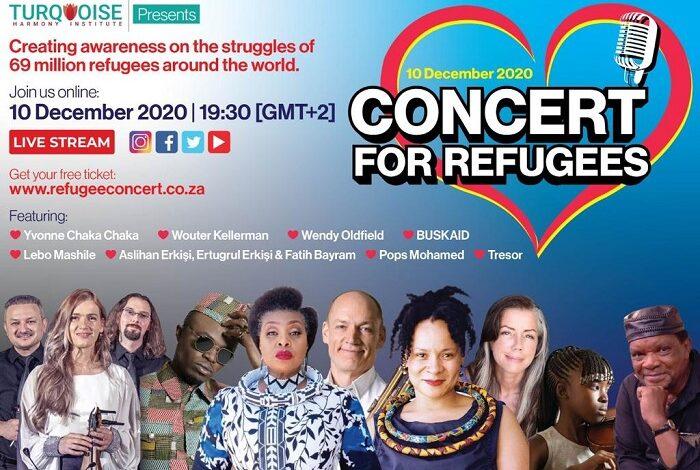 Güney Afrika Hizmet kurumlarından mülteciler yararına dev konser 1
