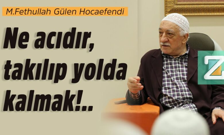 Ne acıdır,takılıp yolda kalmak!.. | M.Fethullah Gülen Hocaefendi 1