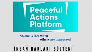 Peaceful Actions Platformu'nun yayımladığı 'İnsan Hakları Bülteni'nin ilk sayısı çıktı 4
