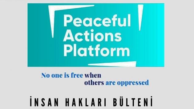 Peaceful Actions Platformu'nun yayımladığı 'İnsan Hakları Bülteni'nin ilk sayısı çıktı 1