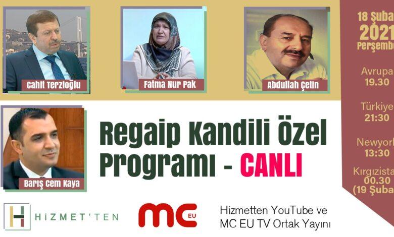 CANLI | Regaib Kandili özel yayını 1