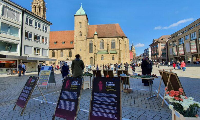 Almanya Heilbronn'da Türkiye'deki kadınların uğradıkları şiddet ve zulme dikkat çekildi. 1