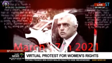 G.Afrika devlet televizyonu sanal protestoyu CANLI yayınladı 13
