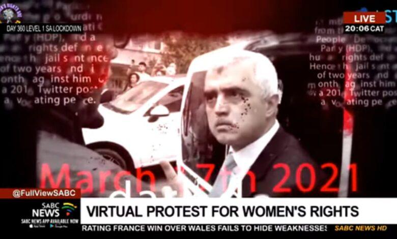 G.Afrika devlet televizyonu sanal protestoyu CANLI yayınladı 1