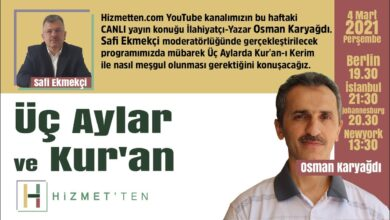 CANLI | Üç Aylar ve Kur'an | Safi Ekmekçi soruyor Osman Karyağdı cevaplıyor 31