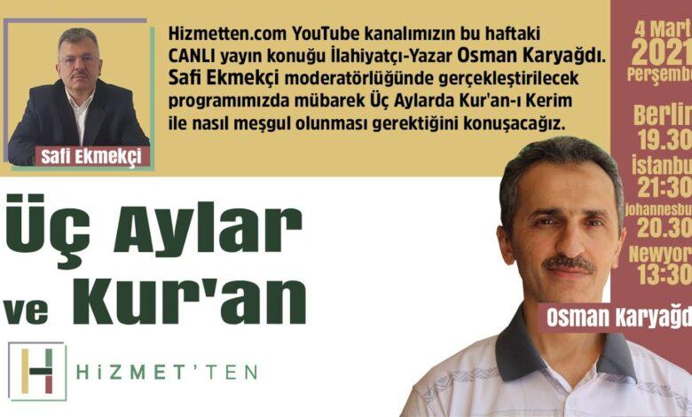 CANLI   Üç Aylar ve Kur'an   Safi Ekmekçi soruyor Osman Karyağdı cevaplıyor 1