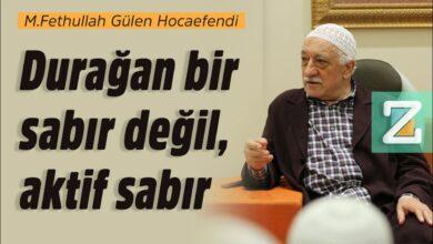 Durağan bir sabır değil, aktif sabır | M.Fethullah Gülen Hocaefendi 3