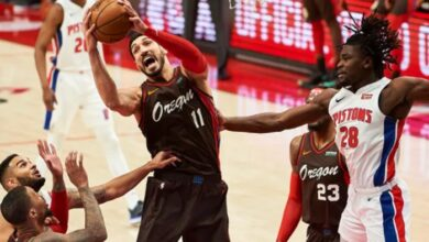 Enes Kanter'den NBA ve takım rekoru: 24 sayı, 30 ribaund 25
