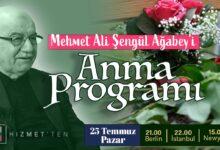CANLI | Mehmet Ali Şengül Ağabey'i Anma Programı 10