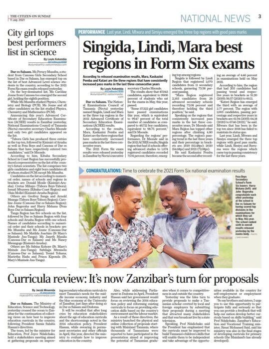 Tanzanya'da Feza Okulları'ndan büyük başarı 6