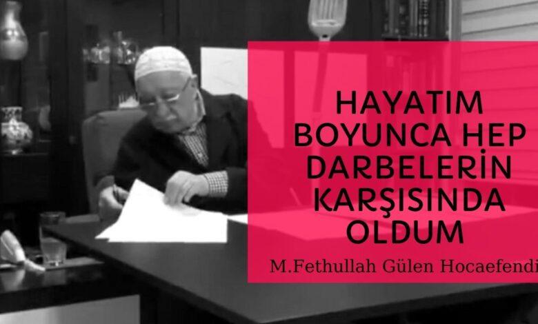 Hayatım boyunca hep darbelerin karşısında oldum (17.07.2016)   M.Fethullah Gülen Hocaefendi 1